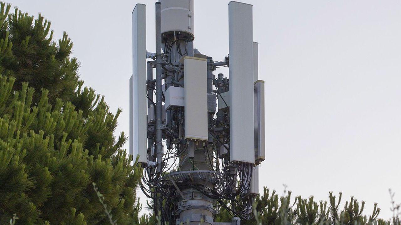 D'ici 2022, les opérateurs télécoms vont devoir installer 3.000 nouvelles antennes 5G sur leurs pylônes, comme ici à Sophia-Antipolis, l'une des villes test pour la 5G.