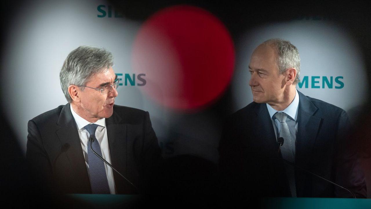 Roland Busch (gauche) prendra la place de Joe Kaeser comme PDG du groupe Siemens le 1eroctobre