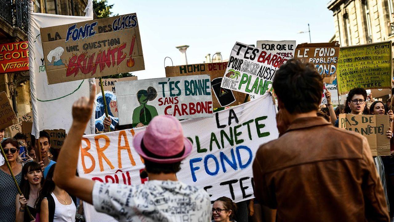 Marche pour le climat «Fridays for Future», à Bordeaux en septembre 2019.