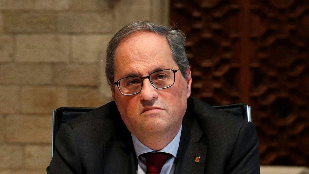 Le leader indépendantiste Quim Torra a été déchu de ses fonctions après avoir été condamné pour désobéissance.
