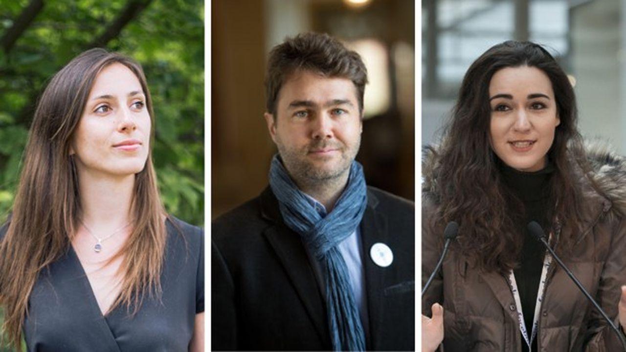 Lucie Basch (Too Good To Go), Frédéric Mazzella (BlaBlaCar), Roxanne Varza (Station F).