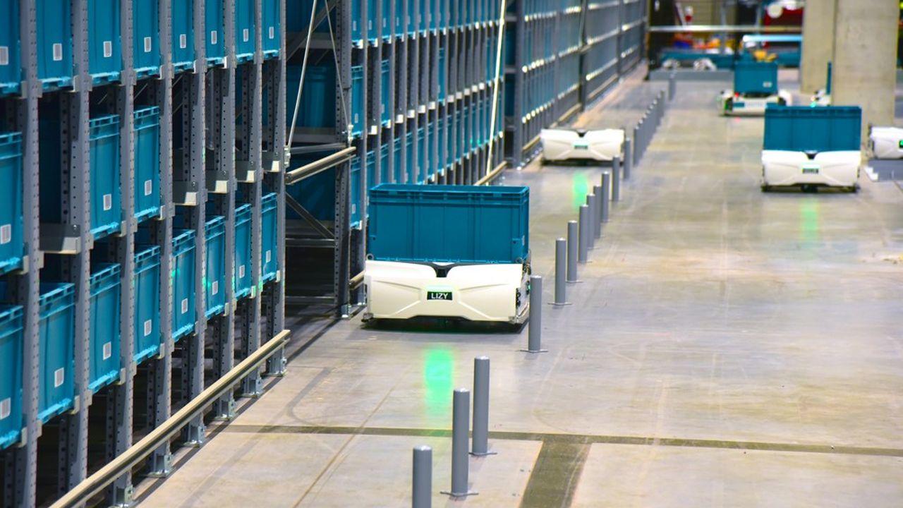 Les robots d'Exotec ne sont que la partie visible de sa solution pour entrepôts logistiques. L'essentiel de l'innovation se cache dans les algorithmes qui les pilotent et s'adaptent aux besoins fluctuant des e-commerçants.