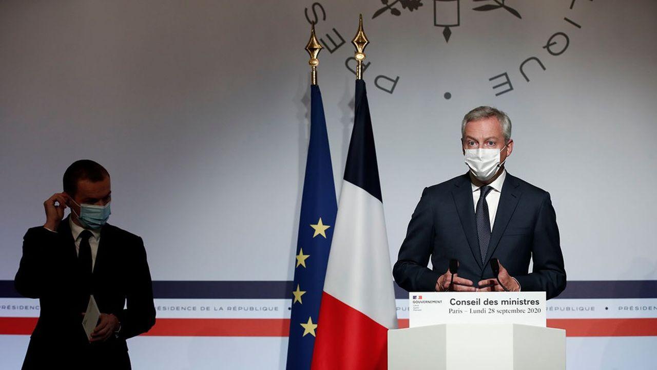Les ministres Bruno Le Maire et Olivier Dussopt assurent que «ce n'est pas parce que les difficultés sanitaires ont repris qu'il faut abandonner l'idée de la relance économique».