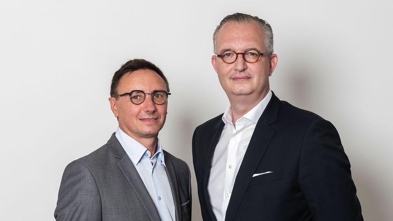 Alain Horvais (à gauche) et Philippe Peltier (à droite), créateurs et directeurs associés de Kurma Diagnostics.