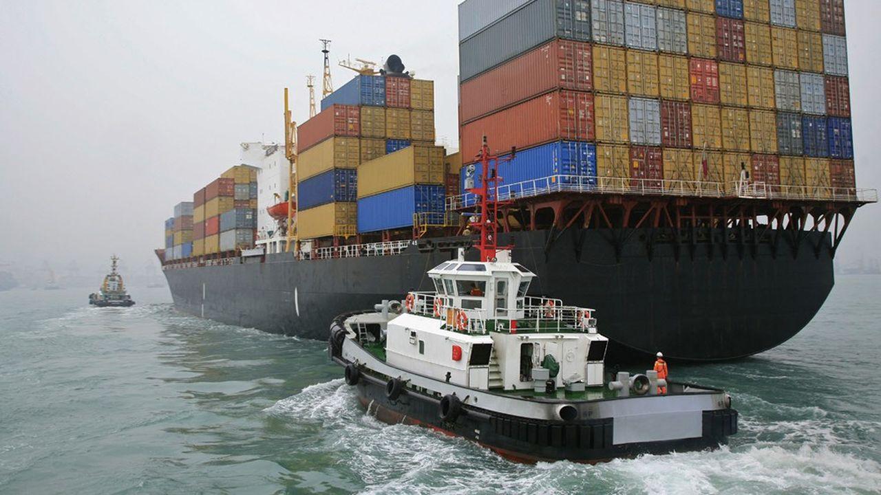 Chine, port de Hong Kong.