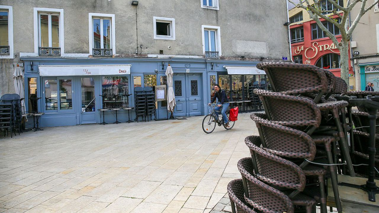 Un bar restaurant fermée à Valence (Drôme).