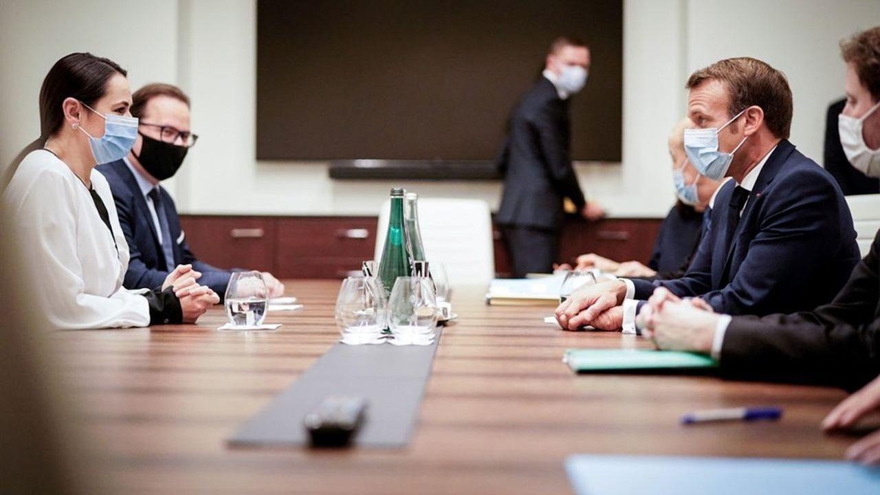 Emmanuel Macron a rencontré mardi matinSvetlana Tikhanovskaïa «en tant que figure importante» de la société civile.