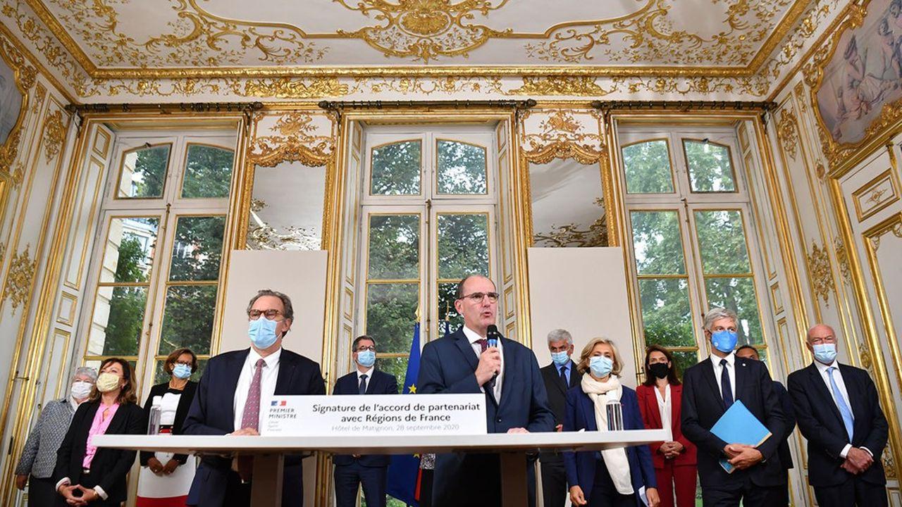 Jean Castex, qui reçoit ce mercredi une délégation de l'AMF, a accueilli lundi à Matignon, 12 des 13 présidents de région.