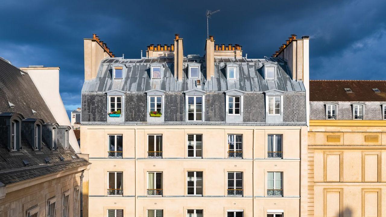 Les prix de l'immobilier parisien retombent, selon les derniers chiffres de Meilleurs Agents, à 10.540euros le mètre carré au 1eroctobre.