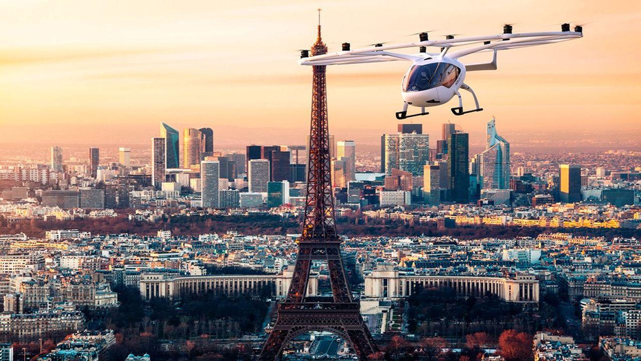 Le prototype d'hélicoptère léger à rotors électrique développé par «la star-up» allemande Volocopter pourrait être le premier utilisateur de la base de Pontoise.