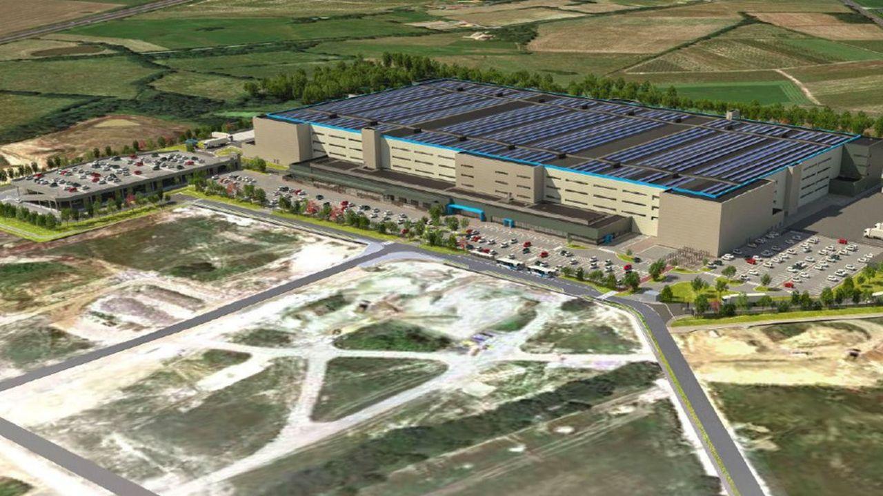 Un entrepôt de 185.000 mètres carrés sur quatre étages doit occuper une parcelle de 14,5hectares.