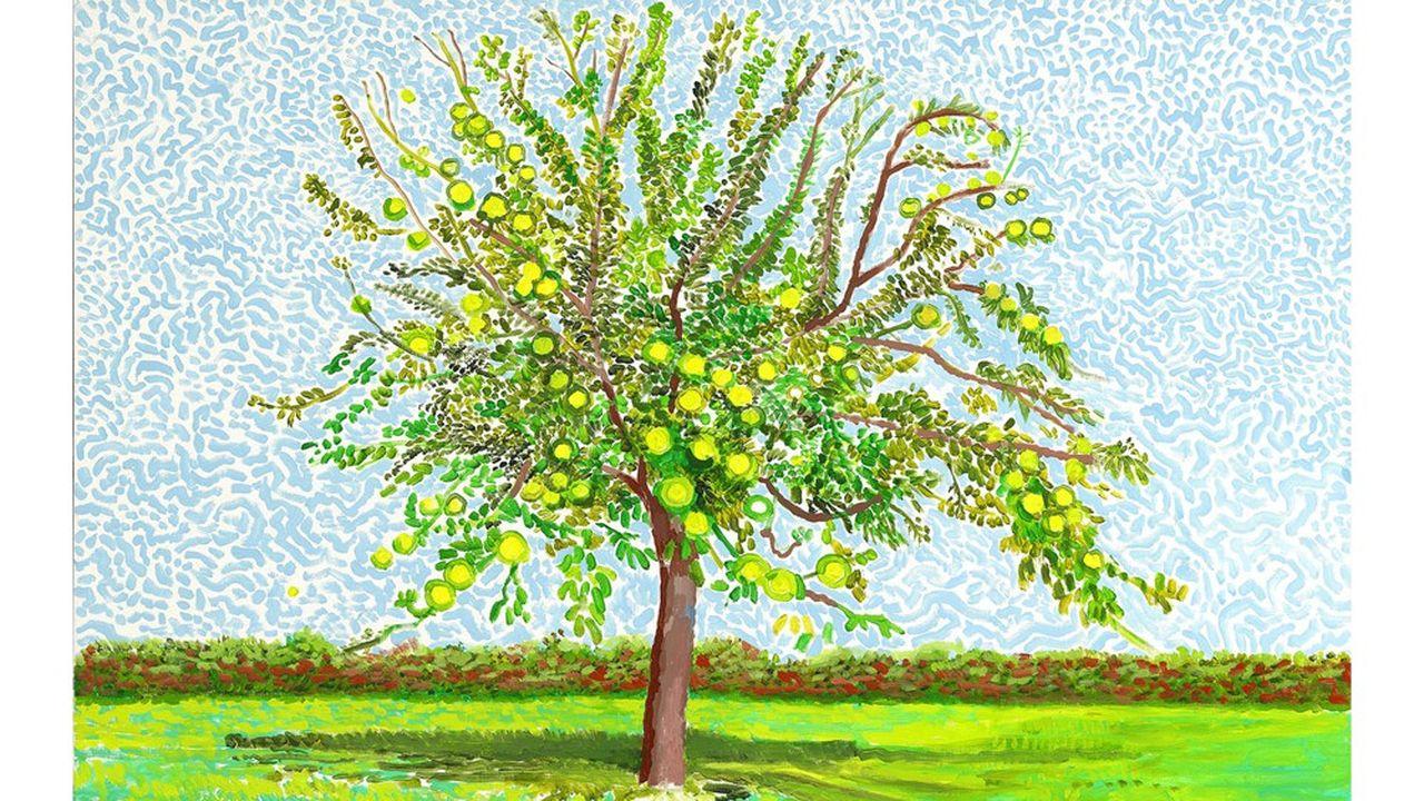David Hockney 'Apple Tree' 2019, acrylique sur toil,|91,4 x 121,9 cm © David Hockney
