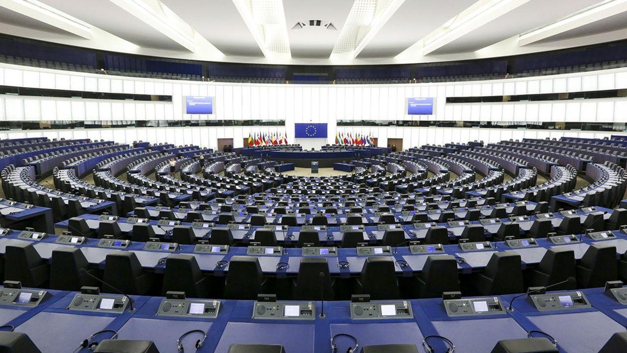L'hémicycle du Parlement européen à Strasbourg. Désert, une fois encore, les députés ayant préféré, comme souvent, siéger à Bruxelles cette semaine..