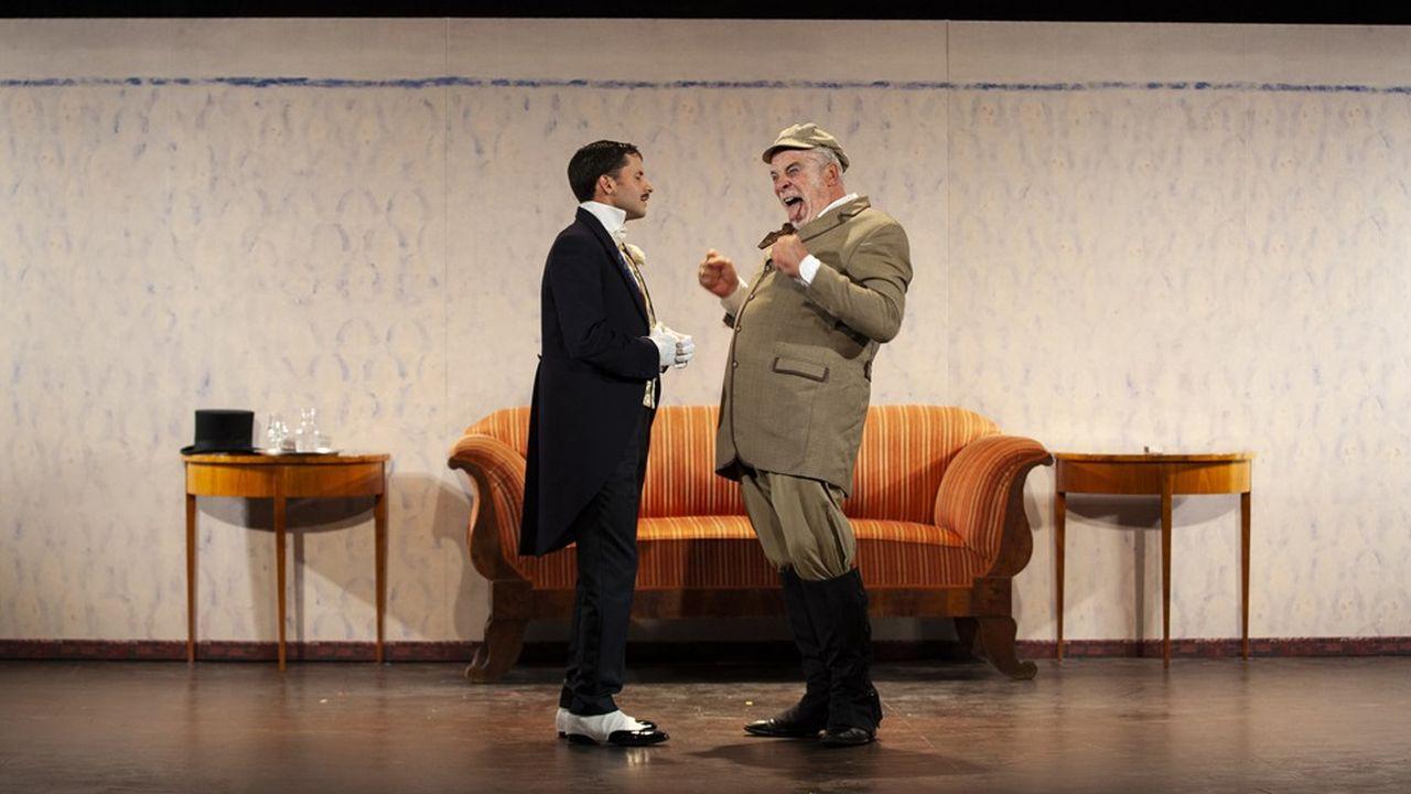 Loïc Mobihan et Jacques Weber dans «Une demande en mariage»