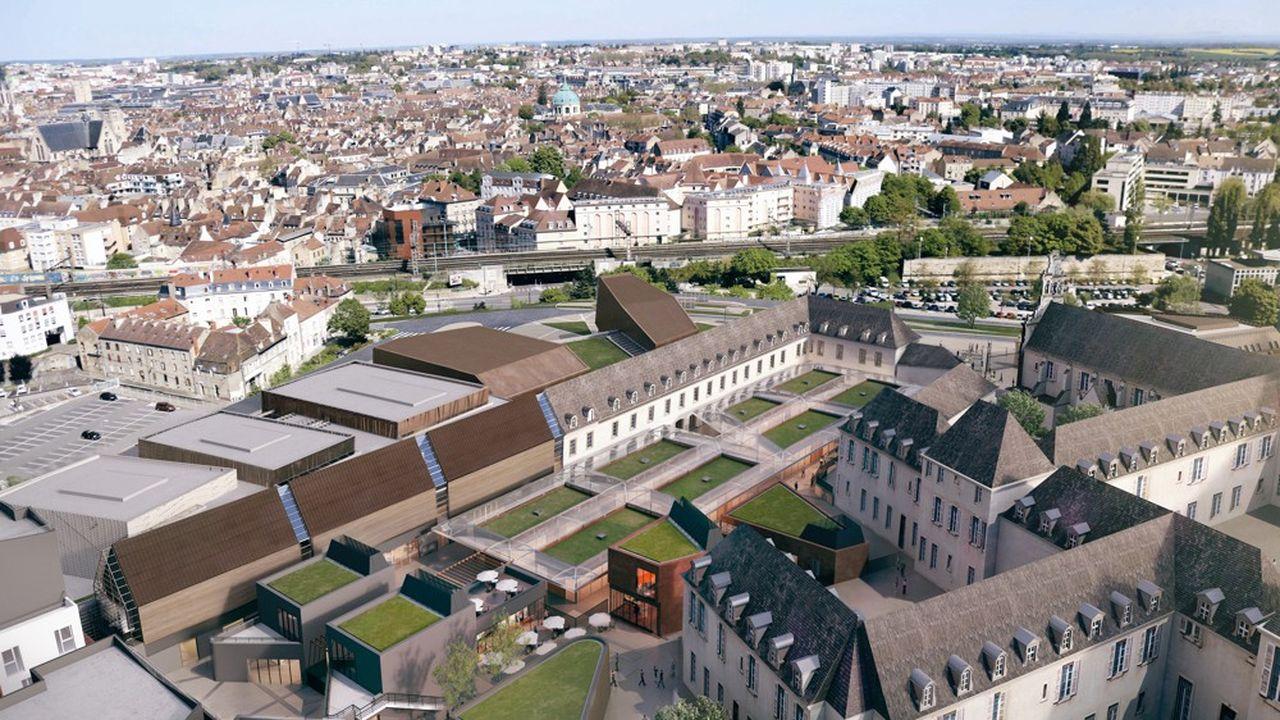 La Cité internationale de la gastronomie et du vin de Dijon mêlera bâti ancien et contemporain dans un ensemble architectural de 70.000m2.