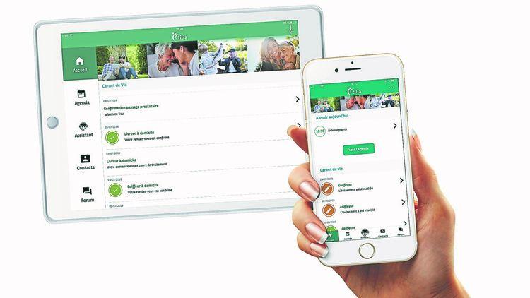La start-up Tillia édite une application d'accompagnement des aidants familiaux.