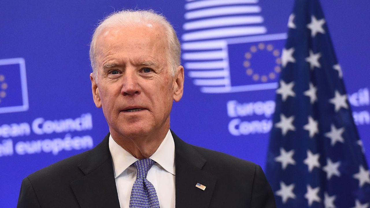 Joe Biden, candidat démocrate à la présidence des Etats-Unis, lors d'une visite à la Commission européenne lorsqu'il était vice-président de Barack Obama en 2015.