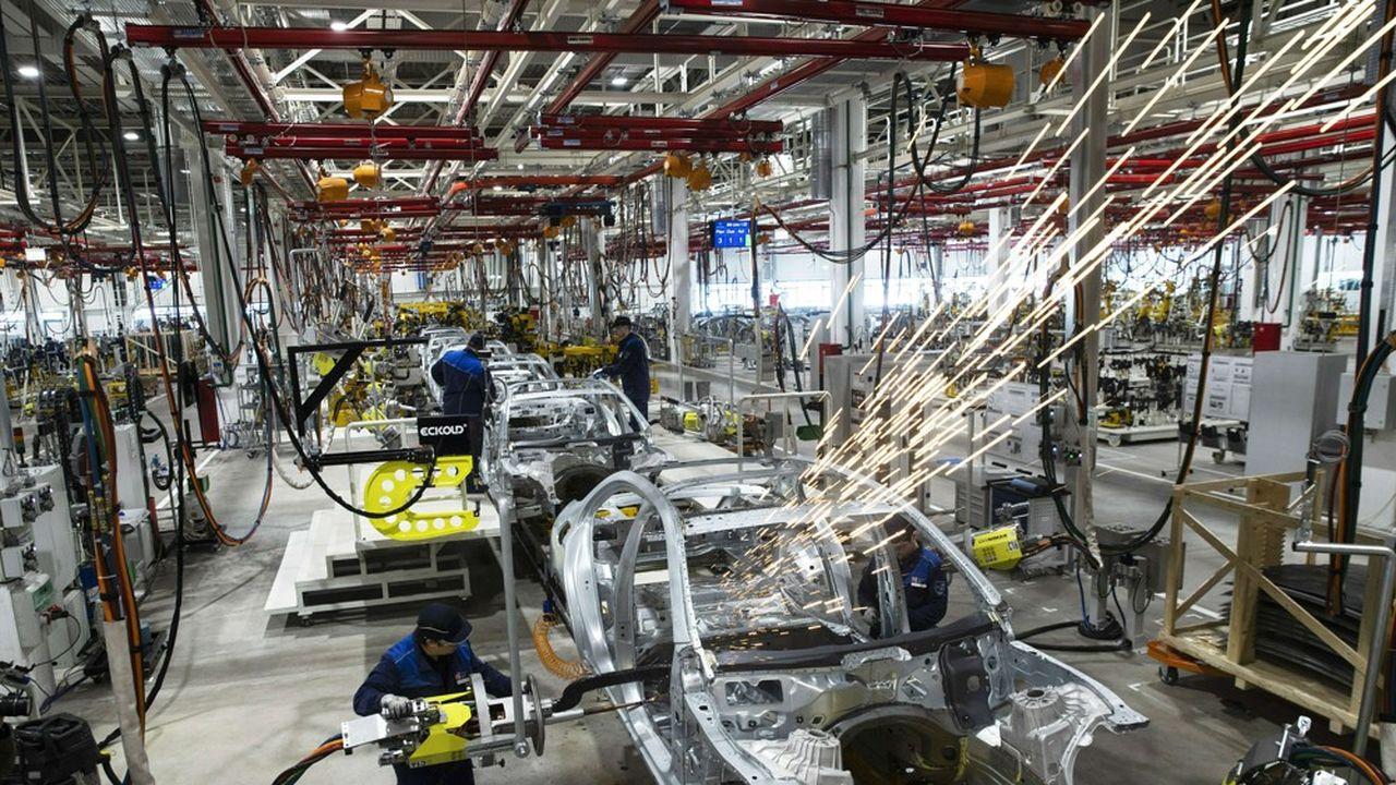 Le coup d'arrêt de la production industrielle allemande en août tient à une chute de 12,5% de celle du secteur automobile.