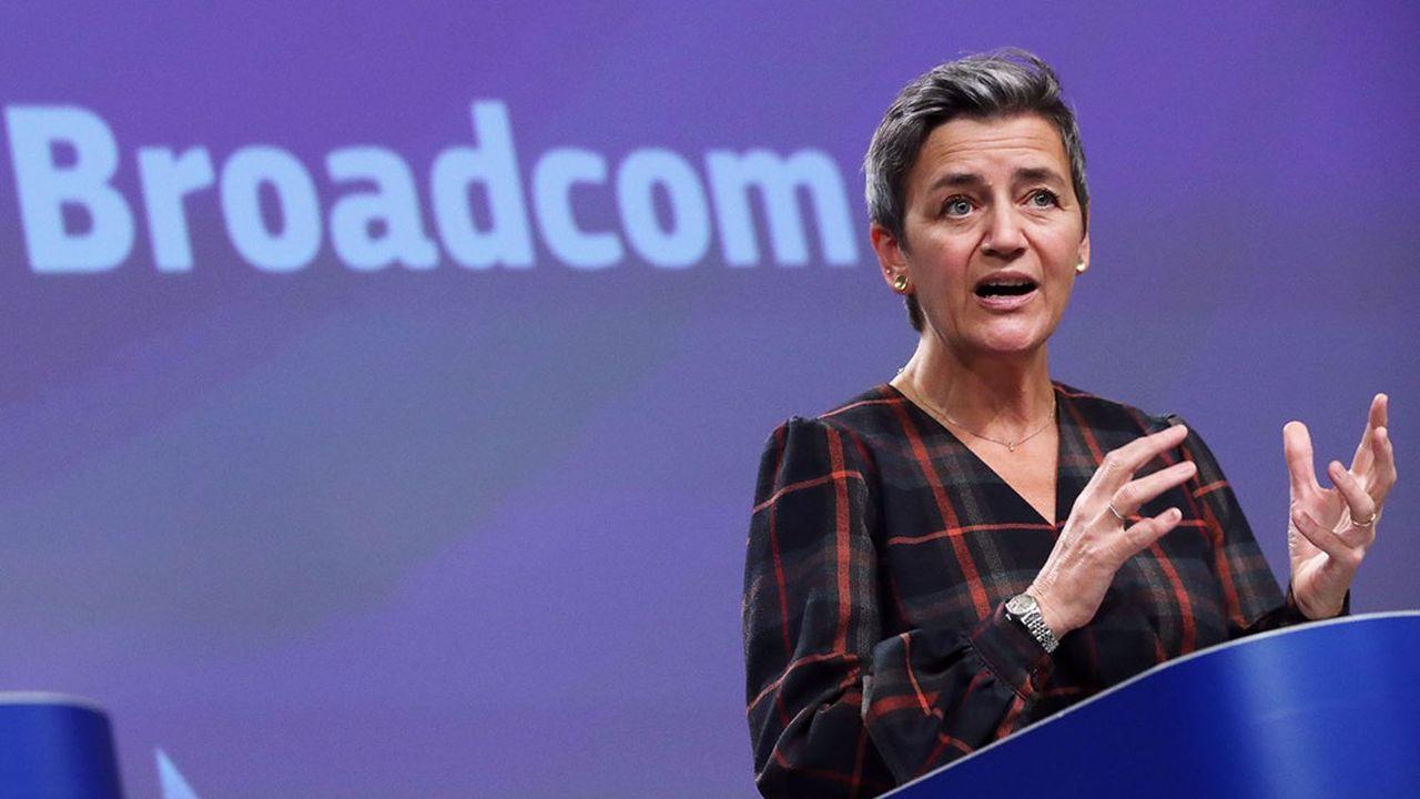 La Commissaire européenne à la Concurrence, la Danoise Margrethe Vestager.