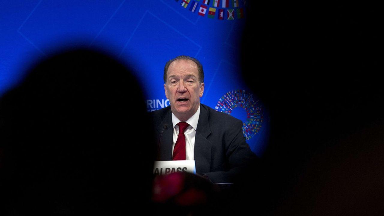 David Malpass, le président de la Banque mondiale, appelle à des mesures rapides pour aider les pays pauvres.