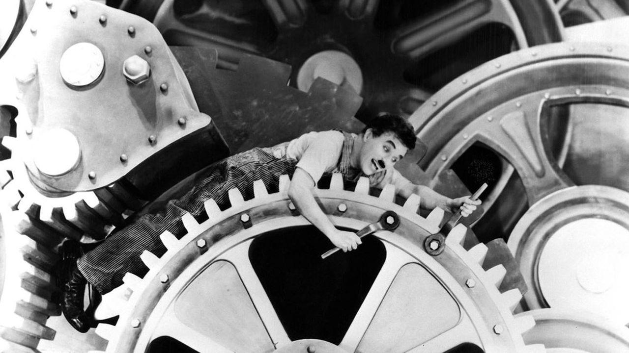 Charlie Chaplin dans'Les Temps modernes'