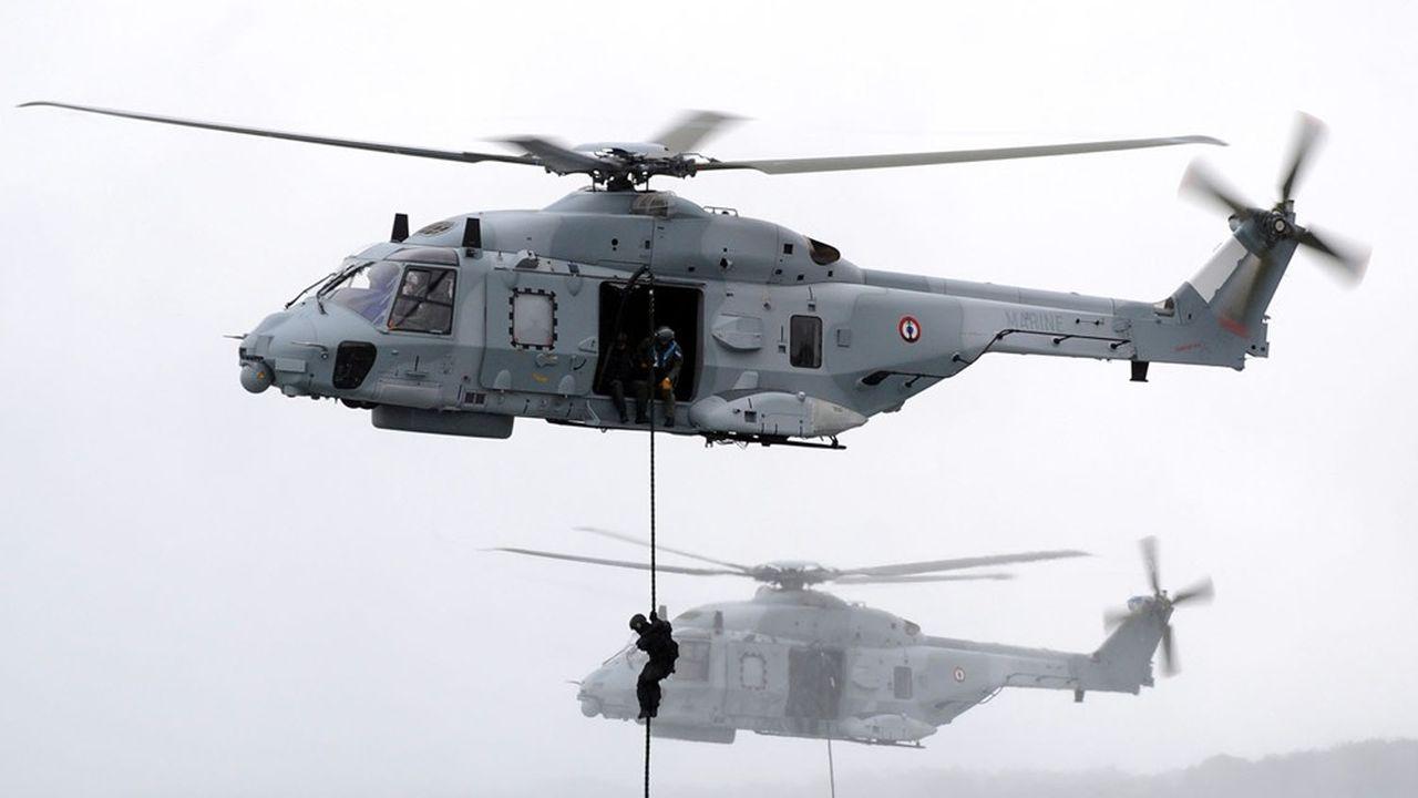 Le NH90 est un hélicoptère militaire de manoeuvre et d'assaut bi-turbine européen, qui équipe une dizaine de pays. Les forces françaises en détiennent 69.