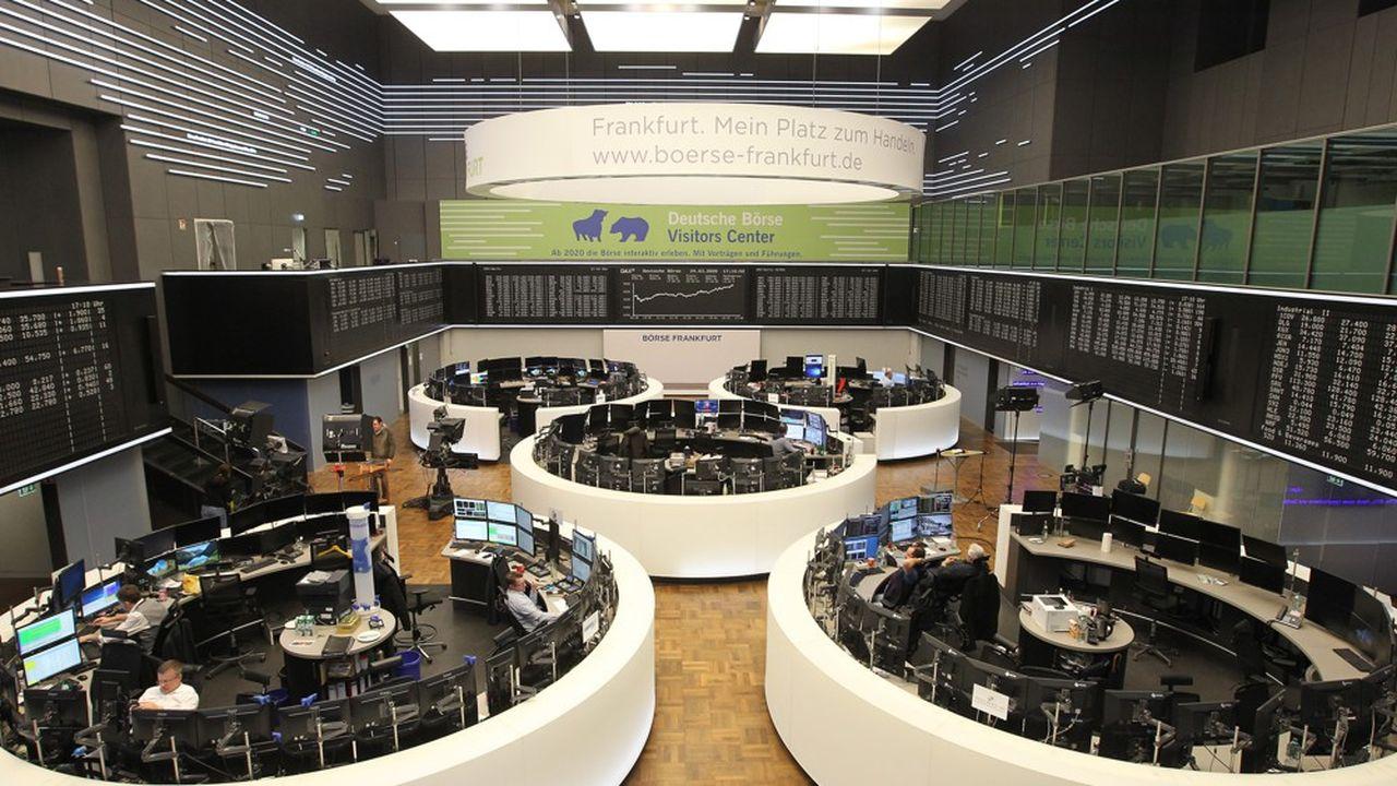 La Bourse de Francfort.