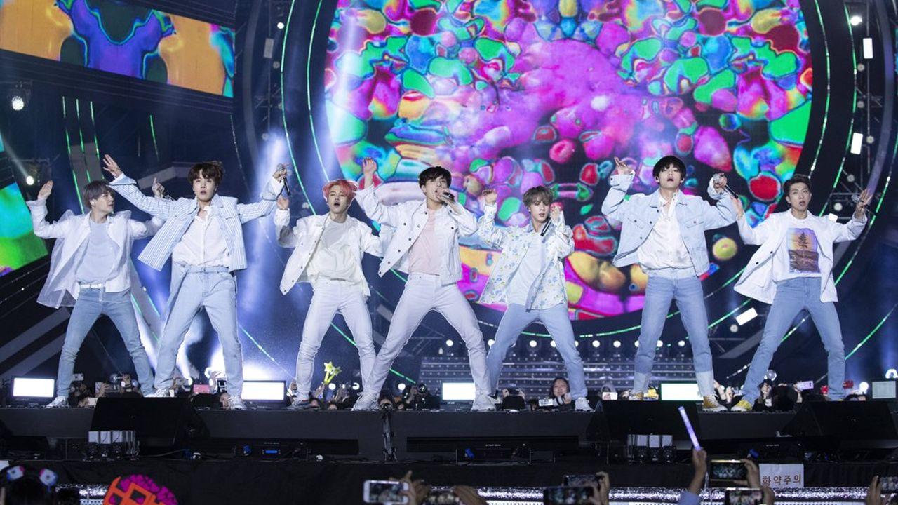 Jeudi 15octobre prochain, les sept membres du boys band coréen BTS vont s'enrichir chacun de 8millions de dollars grâce à la mise en Bourse de leur label.