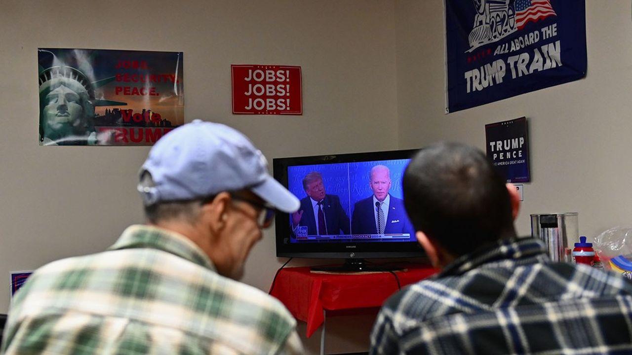 Débat retransmis à la télévision le 29 septembre dernier entre Joe Biden et Donald Trump.