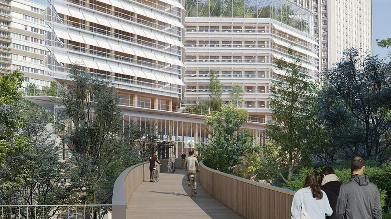 Dans le 13e arrondissement de Paris, de nouveaux immeubles de bureaux verront le jour sur l'ancienne gare des Gobelins.