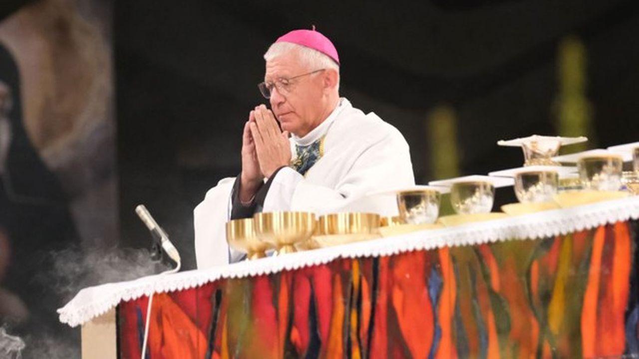 Mgr Ravel, le 15août 2019, à Lourdes.