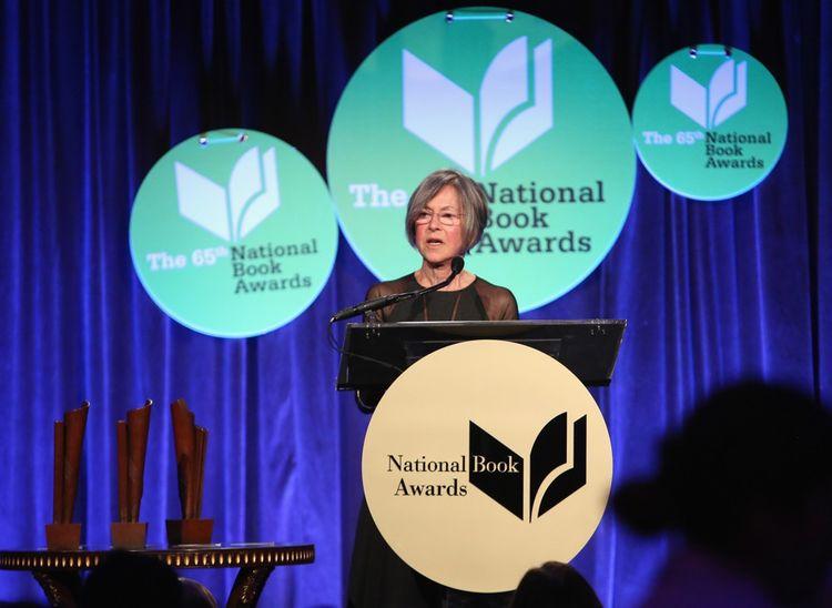 Louise Glück en 2014, au National Book Awards à New York.