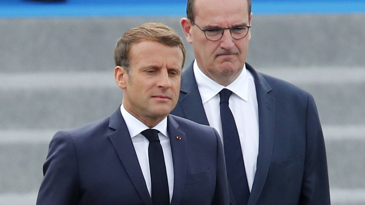 Emmanuel Macron et Jean Castex.