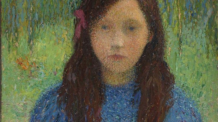 Henri Martin, « Petite Fille en bleu».