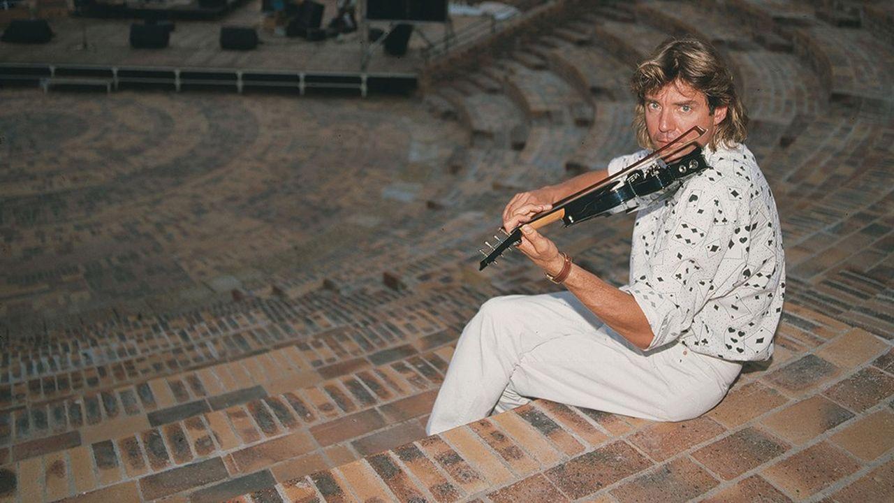 Didier Lockwood, au festival de jazz d'Aix-en-Provence, en août 1991.