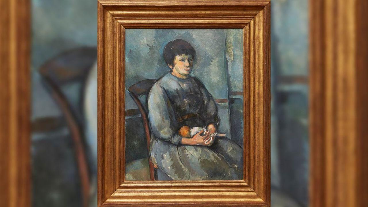 Paul Cézanne, «Jeune Fille à la poupée», 1894-1896, huile sur toile (92.71 x 73.03 cm).