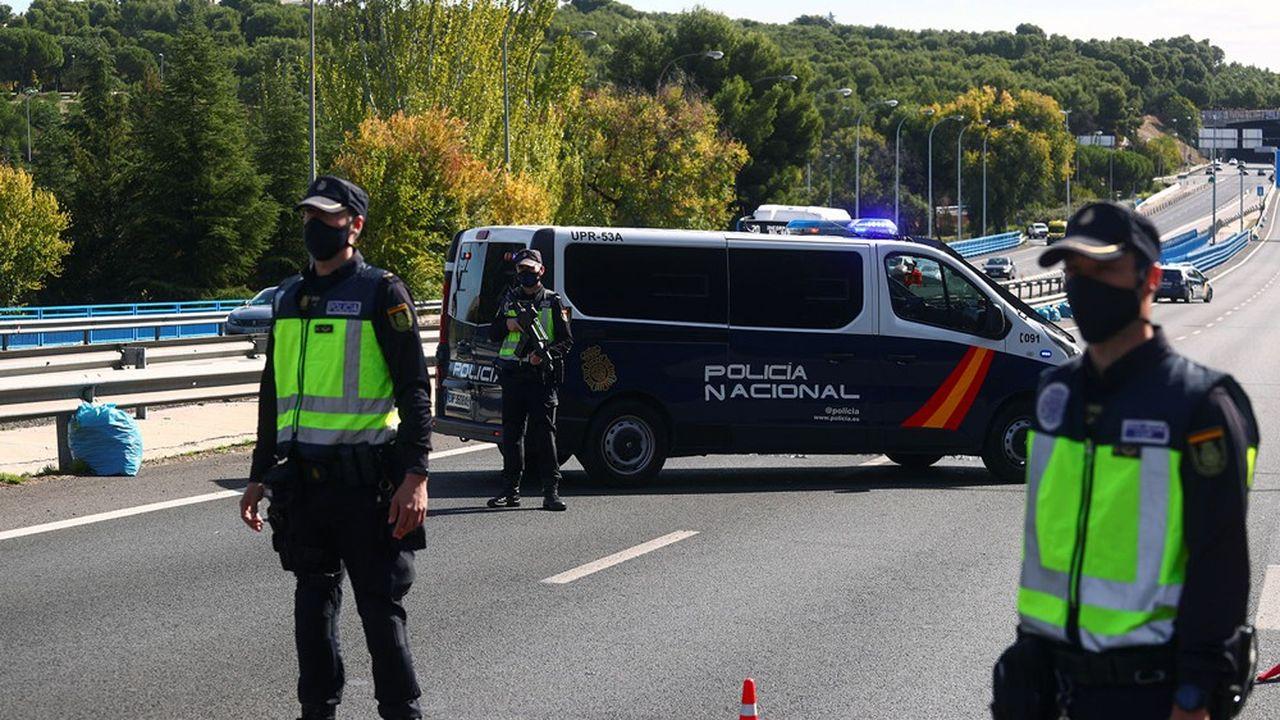 La capitale espagnole sera bouclée pendant 15 jours.