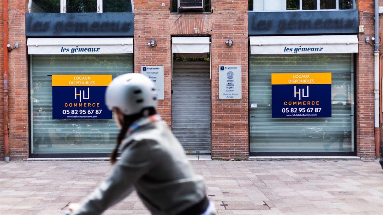Des boutiques vides à Toulouse. La vacance commerciale a tendance à augmenter avec la crise sanitaire.