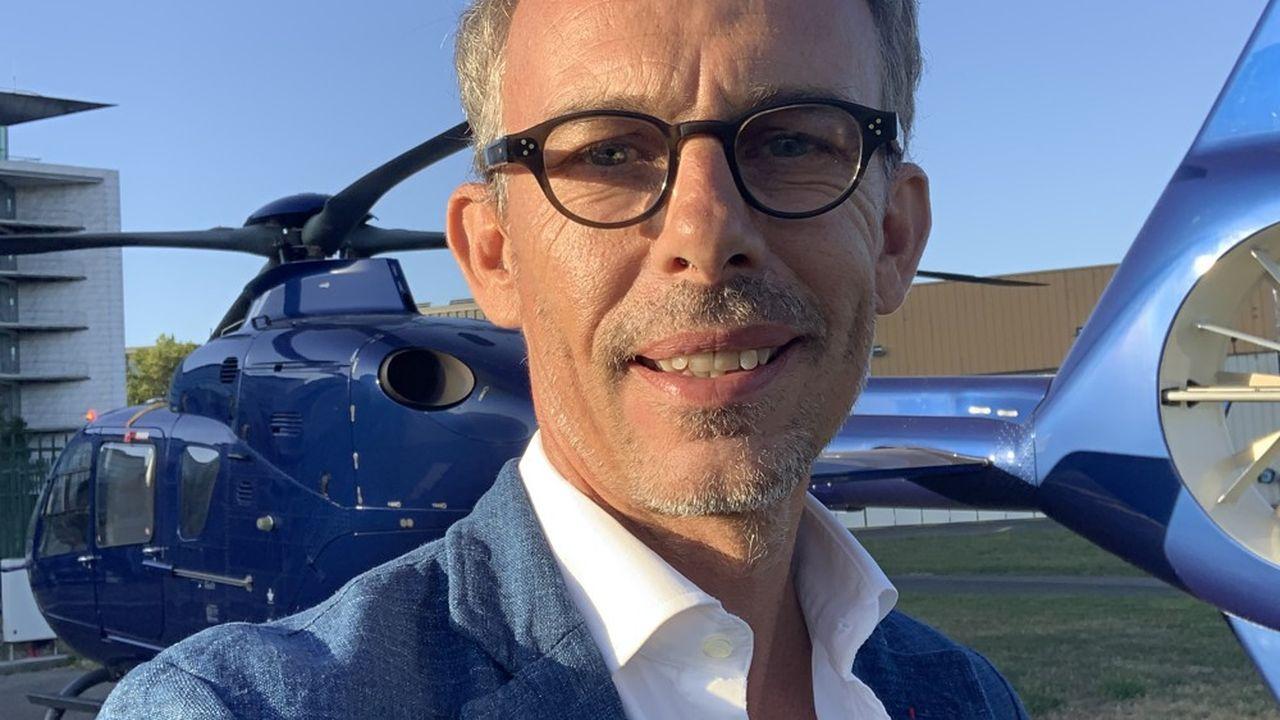 Frédéric Aguettant a su exploiter son expertise aéronautique pour rebondir en créant le «Booking» de l'hélicoptère.