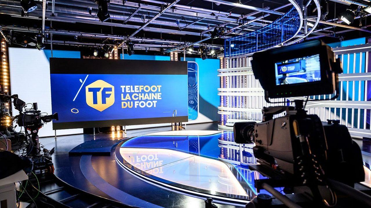 Un plateau de la chaîne de télévision Téléfoot, créée à l'été par Mediapro, le diffuseur principal des matches de Ligue 1.