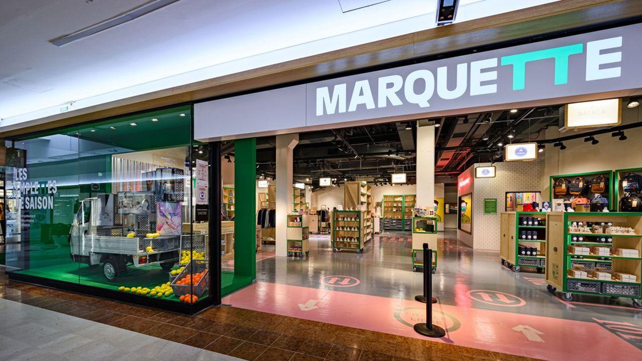 Dans le centre commercial Labège 2, près de Toulouse, 10 DNVB françaises lifestyle, bien-être et beauté se côtoient chez Marquette, un « concept store des marques fraîches du web » de 280 m2.
