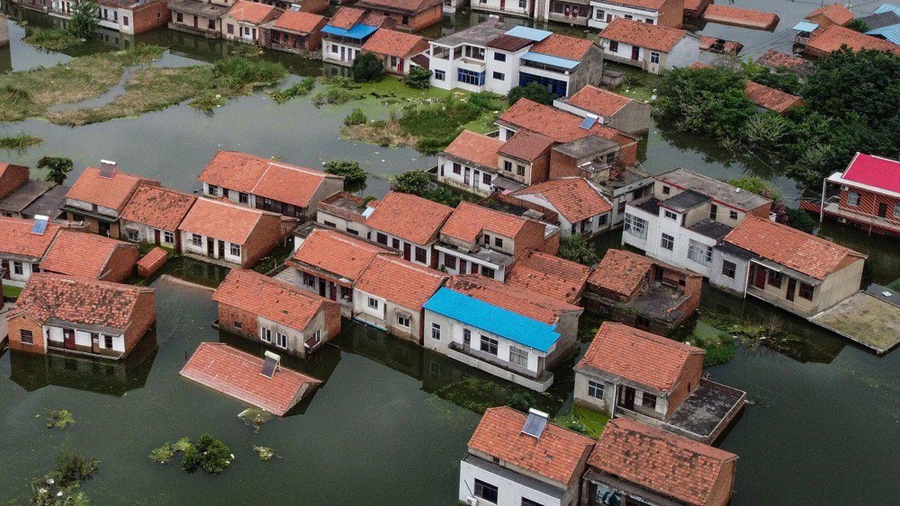 L'Asie est particulièrement touchée par les catastrophes naturelles, comme ici lors d'inondations en Chine.