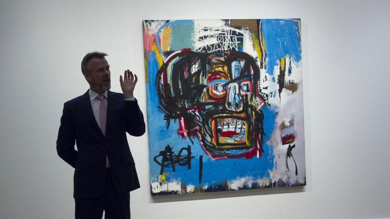 Chez Sotheby's en 2017 à New York, une oeuvre de Jean-Michel Basquiat a atteint 110millions de dollars, un record pour l'artiste plébiscité depuis 20 ans aux enchères.