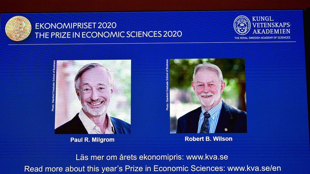 Les deux chercheurs succèdent à la Franco-Américaine Esther Duflo pour le prix Nobel d'économie.