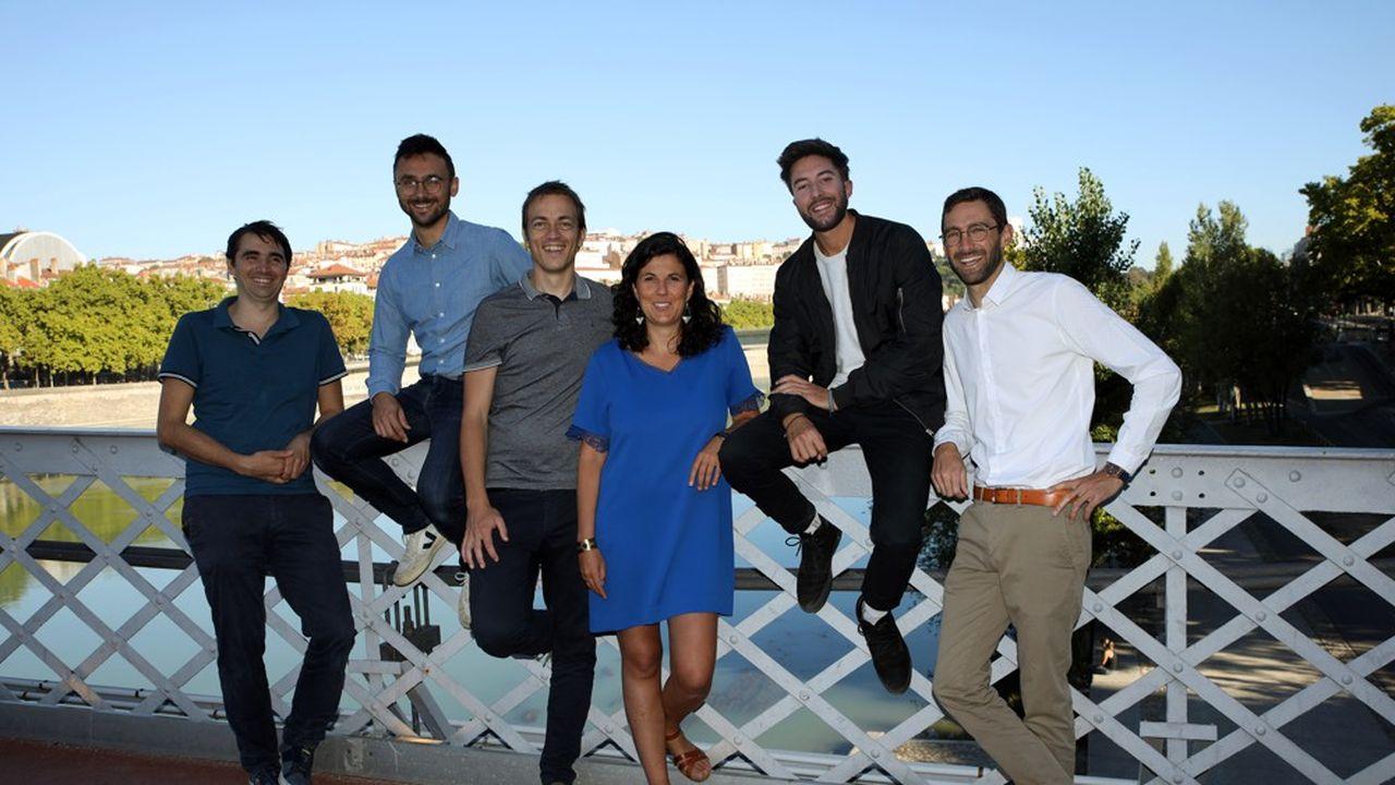 De gauche à droite: Mehdi Coly, Denis Galha Garcia, Nicolas Sabatier, Coline Debayle, Arthur Auboeuf et Laurent Morel, les six cofondateurs de Time for the Planet.