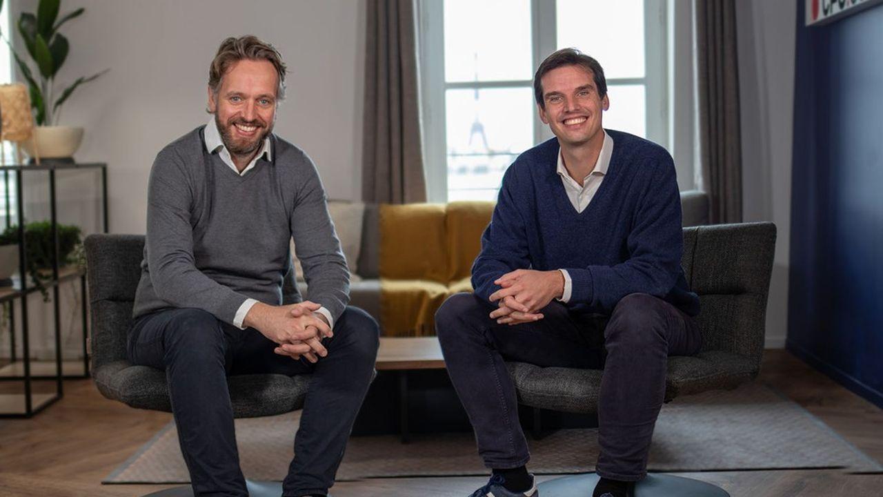 Joseph Smith, le nouveau CRO de Spendesk, aux côtés de Rodolphe Ardant, CEO de l'entreprise.