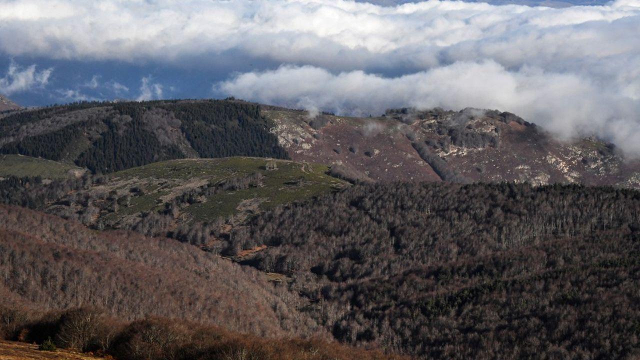 Le parc national des Cévennes vu de l'observatoire météorologique du Mont-Aigoual )