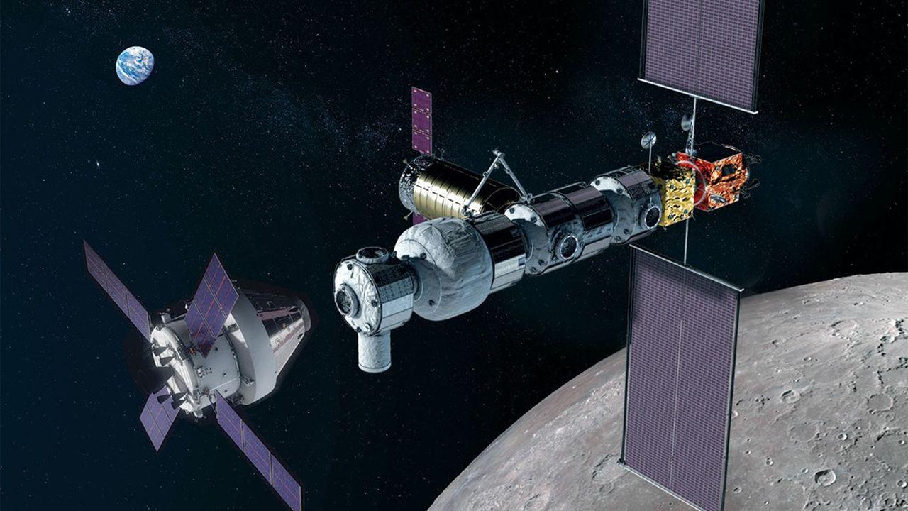Thales Alenia Space jouera un rôle clé dans la construction de la station spatiale lunaire qui doit pouvoir accueillir jusqu'à quatre astronautes pour des durées maximum de trois mois.