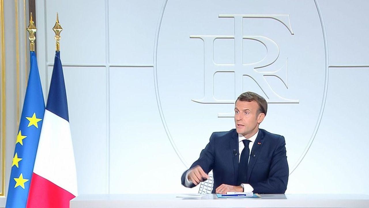 Emmanuel Macron a pris la parole ce mercredi soir.