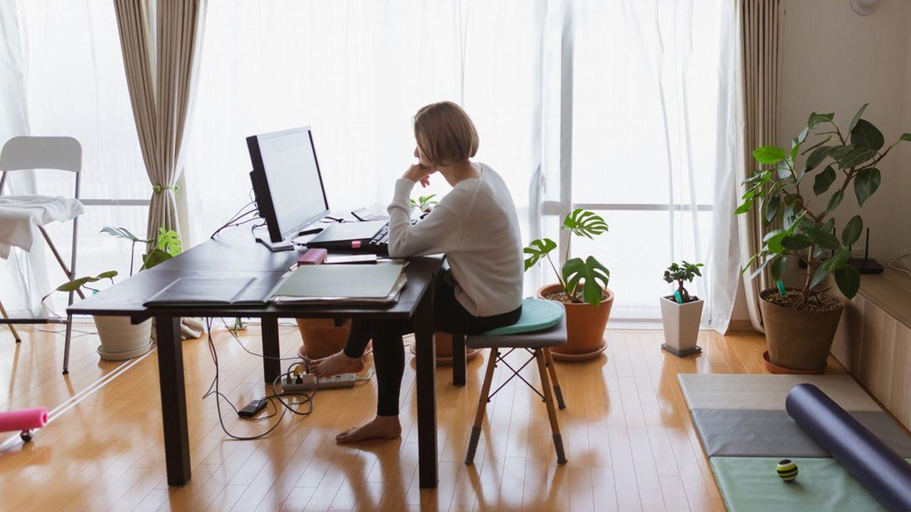 Les salariés qui télétravaillent actuellement le font rarement à 100%.